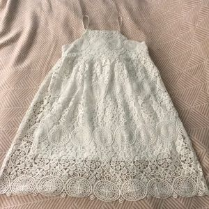 Gorgeous, white lace summer dress